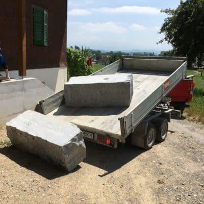 Umgebungsgestaltung Versetzen von Blocksteinen
