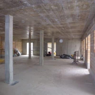 Anbau Scheune Betonarbeiten und Mauerwerk