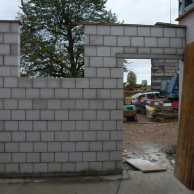 Anbau Treppenhaus Sichtmauerwerk