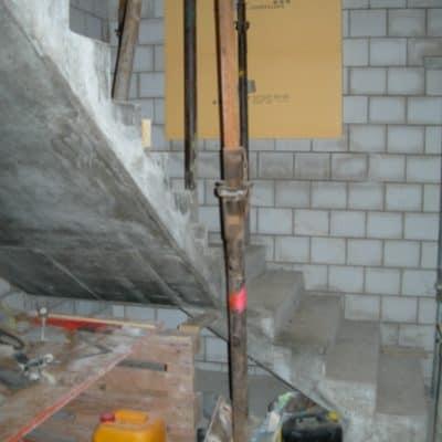 Anbau Treppenhaus Rohbau