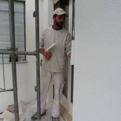 Giperarbeit, Verputz Fassade